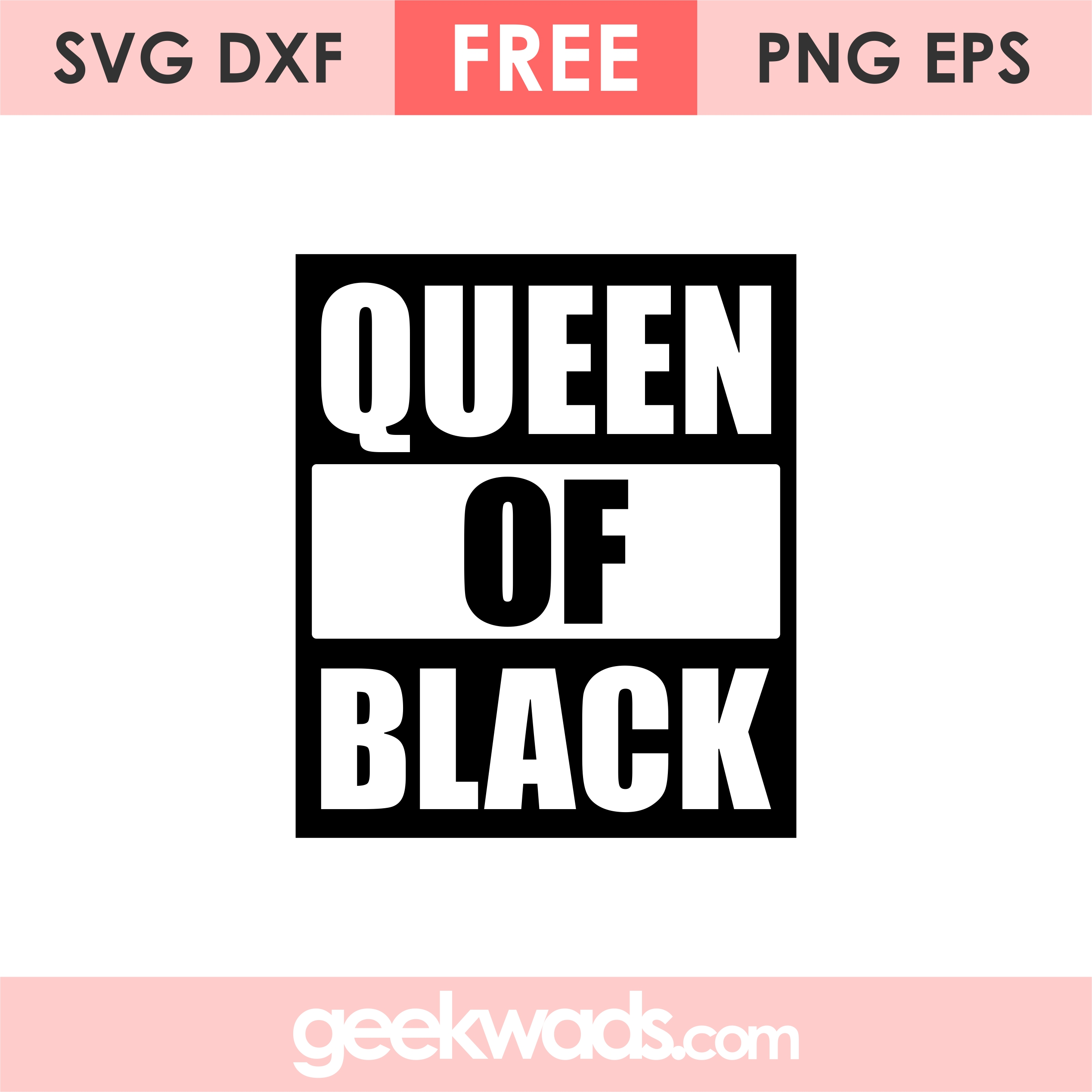 Free Queen of Black SVG