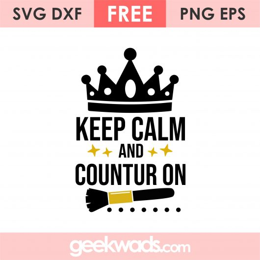 Keep Calm And Countur On svg