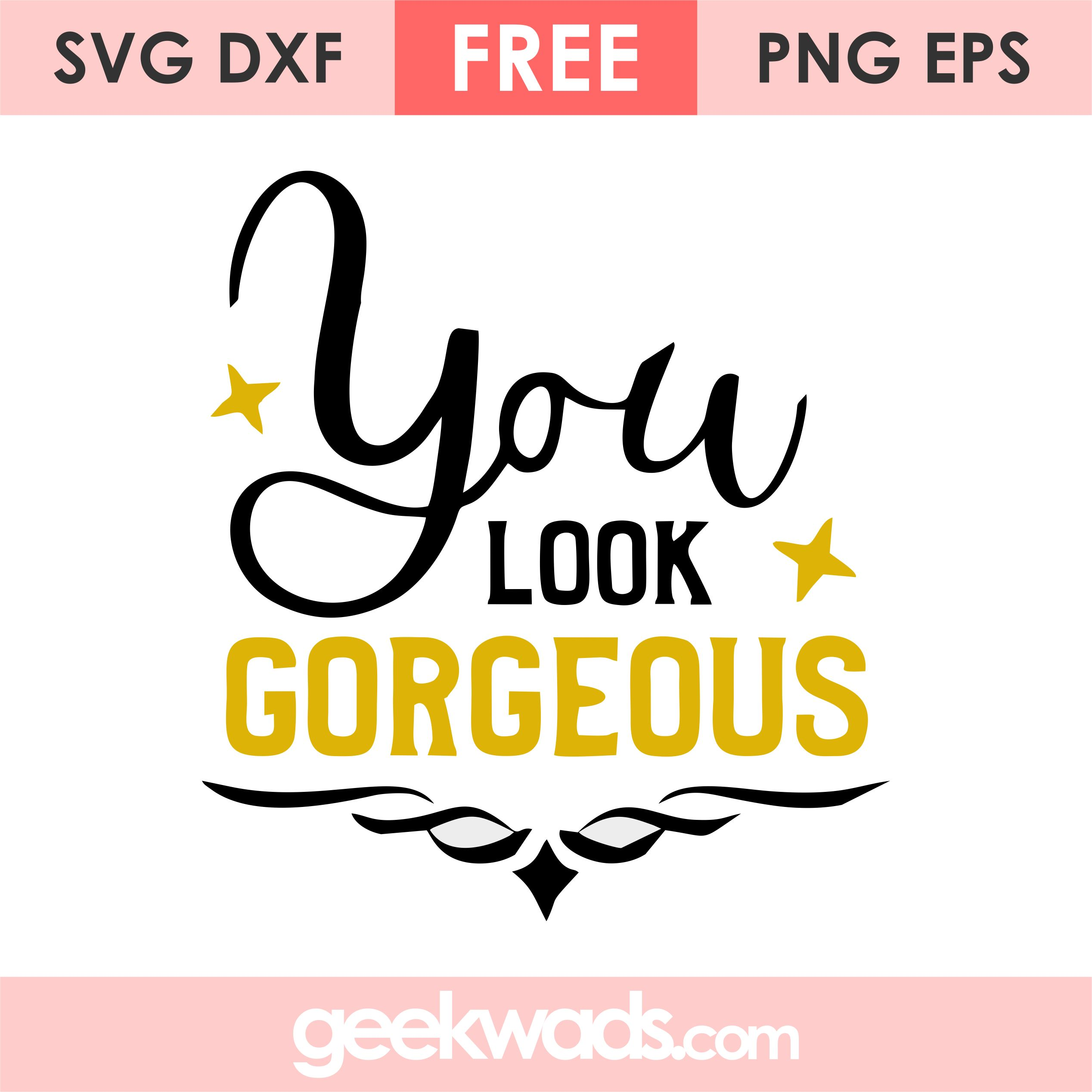 You Look Gorgeous svg