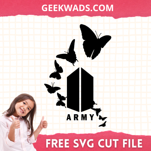 Butterfly Army BTS SVG Free